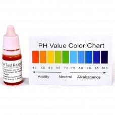 pH testas rūgštinių / šarminių elementų nustatymui vandenyje