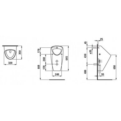 Pisuaras Laufen Caprino 32 cm su valdymo sistema 2