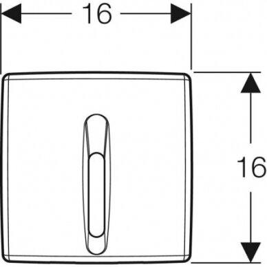 Pisuaro valdymo mygtukas Geberit HyBasic 3