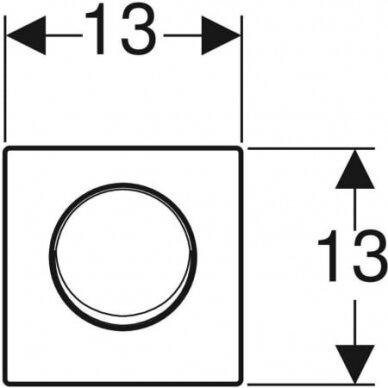 Pisuaro valdymo mygtukas Geberit Mambo 3