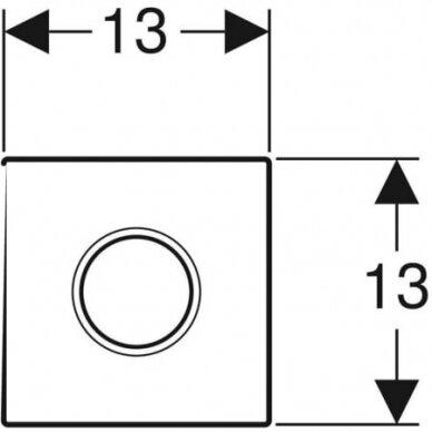 Pisuaro valdymo mygtukas Geberit Type 01 3