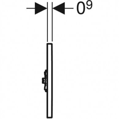 Pisuaro valdymo mygtukas Geberit Type 01 4