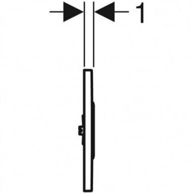 Pisuaro valdymo mygtukas Geberit Type 10 3