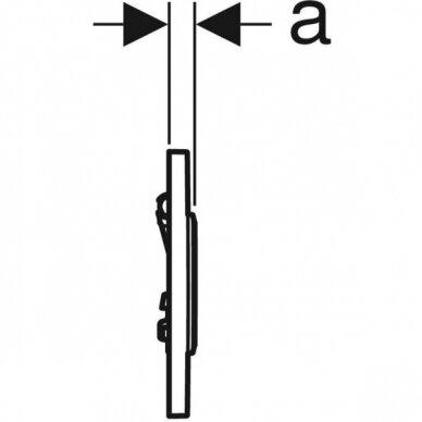 Pisuaro valdymo mygtukas Geberit Type 10 4