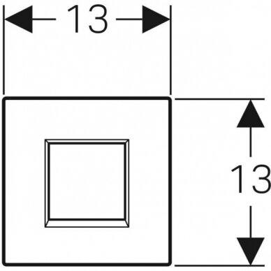 Pisuaro valdymo mygtukas Geberit Type 30 3