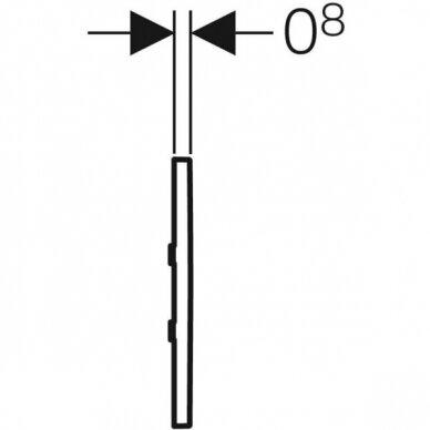 Pisuaro valdymo mygtukas Geberit Type 30 4