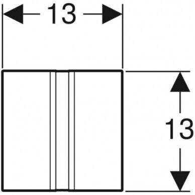 Pisuaro valdymo mygtukas Geberit Type 50 3