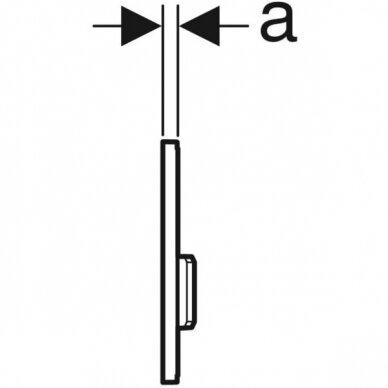 Pisuaro valdymo mygtukas Geberit Type 50 4