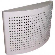 Plieninis dekoratyvinis tolimo metimo oro tiekimo difuzorius DTQA D125mm baltas