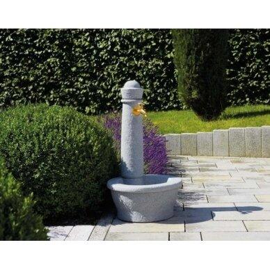 Plastikinė vandens kolonėlė su kriaukle Roma, granito imitacija 3