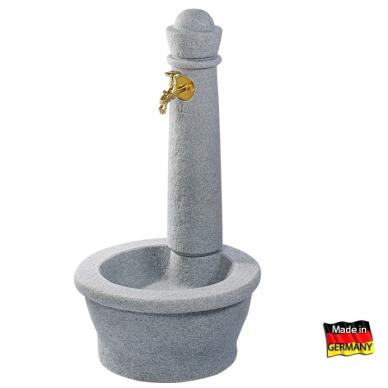 Plastikinė vandens kolonėlė su kriaukle Roma, granito imitacija