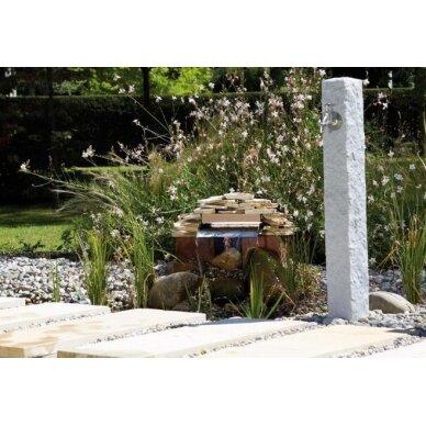 Plastikinė vandens kolonėlė, šviesaus Granito imitacija 2