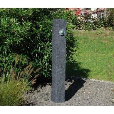 Plastikinė vandens kolonėlė, tamsaus Granito imitacija 2