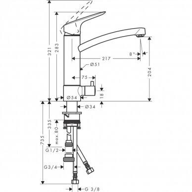 Plautuvės maišytuvas Hansgrohe M31 2