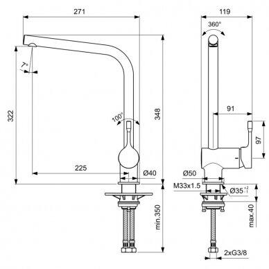 Plautuvės maišytuvas Ideal Standard Ceralook 2