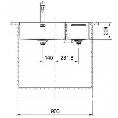 Plieninė funkcinė plautuvė Franke Box Center su priedais 5