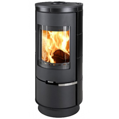 Plieninė krosnelė Thorma Andorra Ceramic Standard, juoda