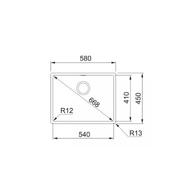 Plieninė plautuvė Franke BOX BXX 210/110-54 2