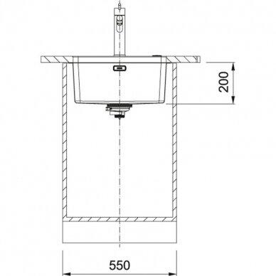 Plieninė plautuvė Franke MYX 110-45 3