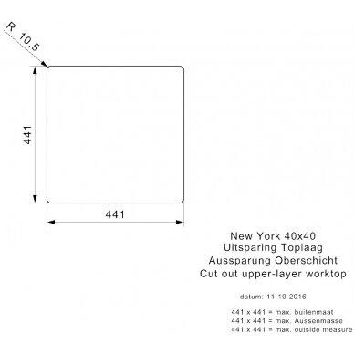 Plieninė plautuvė Reginox New York 40 cm 5