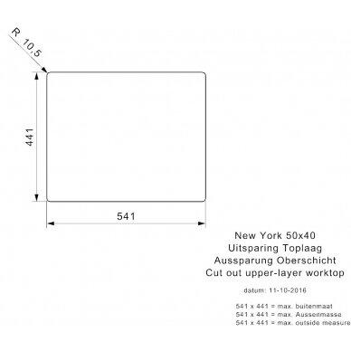 Plieninė plautuvė Reginox New York 50 cm 4