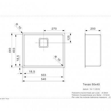 Plieninė plautuvė Reginox Texas 50 cm 2