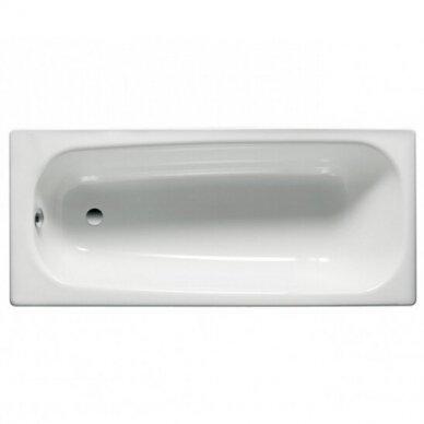 Plieninė stačiakampė vonia Roca Contesa 120, 140, 150, 160, 170 cm