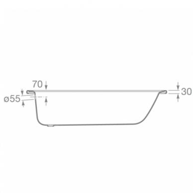 Plieninė stačiakampė vonia Roca Contesa 120, 140, 150, 160, 170 cm 3