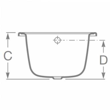 Plieninė stačiakampė vonia Roca Contesa 120, 140, 150, 160, 170 cm 4