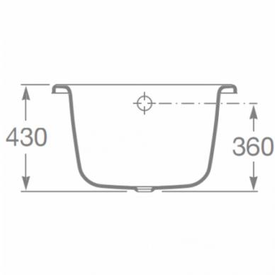 Plieninė stačiakampė vonia Roca Princess-N 150, 160, 170 cm 4