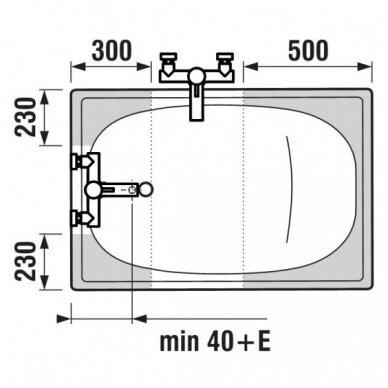 Plieninė vonia Jika Riga Mini 105 cm 4