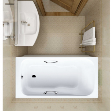 Plieninė vonia Kaldewei Dyna Set Star 150, 160, 170, 180 cm su skylėmis rankenėlėms 2