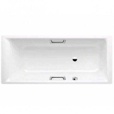 Plieninė vonia Kaldewei Puro Star 160, 170, 180, 190 cm su skylėms rankenėlėms