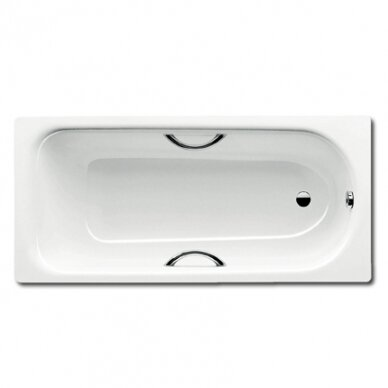 Plieninė vonia Kaldewei Saniform Plus Star 140, 150, 160, 170, 180 cm su skylėmis rankenėlėms