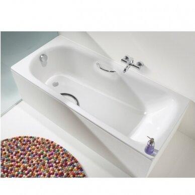 Plieninė vonia Kaldewei Saniform Plus Star 140, 150, 160, 170, 180 cm su skylėmis rankenėlėms 3