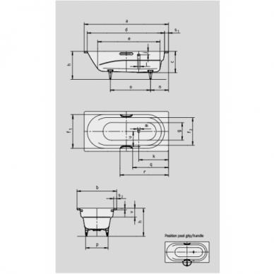 Plieninė vonia Kaldewei Vaio 170 cm 3