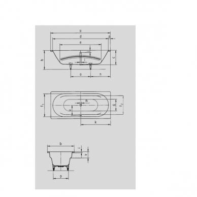 Plieninė vonia Kaldewei Vaio Duo 180 cm 2