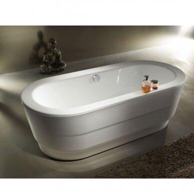 Plieninė vonia Kaldewei Vaio Duo Oval 180 cm su uždengimu 2