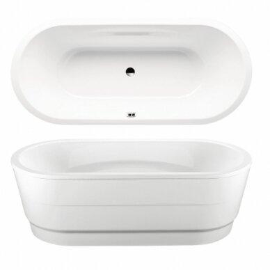 Plieninė vonia Kaldewei Vaio Duo Oval 180 cm su uždengimu