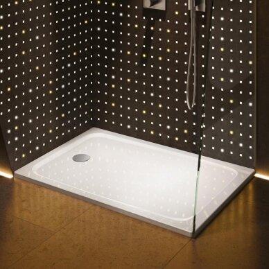 Plieninis dušo padėklas Kaldewei Cayonoplan 75x100, 80x100, 80x80, 90x90 cm su žema atrama 3