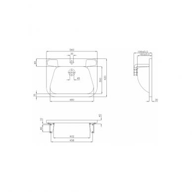 Plieninis praustuvas Faneco IRS72 - 56 cm 2