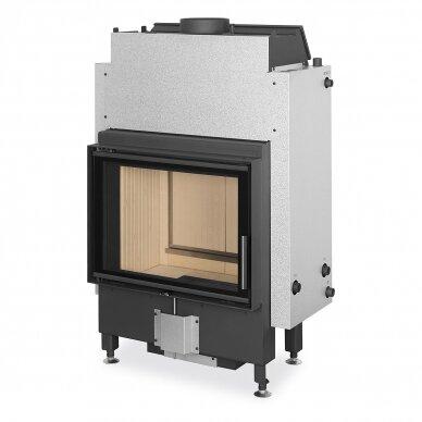 Plieninis židinio ugniakuras Romotop Dynamic DWB2M01 66.. su šilumokaičiu, malkinis, 15,3 kW