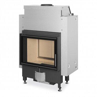 Plieninis židinio ugniakuras Romotop Dynamic DWB2M01P 66..P su šilumokaičiu, malkinis, 15,6 kW