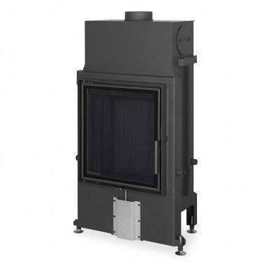 Plieninis židinio ugniakuras Romotop IMPRESSION 2G 55.. atveriamomis durimis, 10,9 kW, malkinis 2