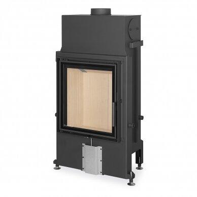 Plieninis židinio ugniakuras Romotop IMPRESSION 2G 55.. atveriamomis durimis, 10,9 kW, malkinis