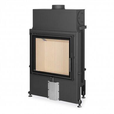 Plieninis židinio ugniakuras Romotop IMPRESSION 2G 67.. atveriamomis durimis, 12,6 kW, malkinis 3