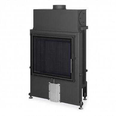 Plieninis židinio ugniakuras Romotop IMPRESSION 2G 67.. atveriamomis durimis, 12,6 kW, malkinis