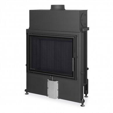Plieninis židinio ugniakuras Romotop IMPRESSION 2G 80.. atveriamomis durimis, malkinis, 14,3 kW
