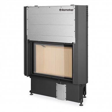Plieninis židinio ugniakuras Romotop IMPRESSION 2G L 80. su pakeliamomis durimis, 14,3 kW, malkinis 2