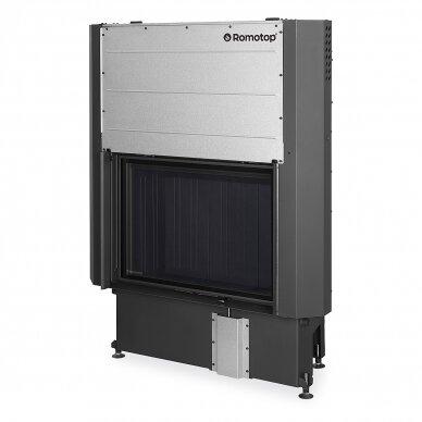 Plieninis židinio ugniakuras Romotop IMPRESSION 2G L 80. su pakeliamomis durimis, 14,3 kW, malkinis